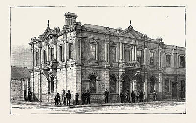 The Bank Of Africa, Johannesburg, As It Is In 1890 Art Print