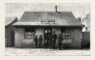 South Africa Drawing - The Bank Of Africa, Johannesburg, As It Was In 1887 by South African School