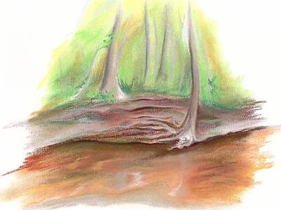 Pastel - The Bank Of Blackwater Creek by MM Anderson