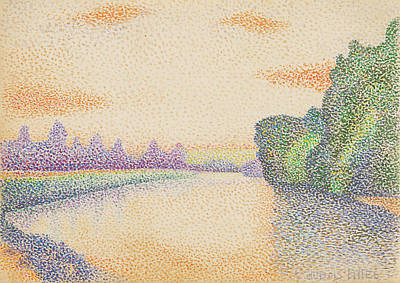 Dawn Drawing - The Banks Of The Marne At Dawn Albert Dubois-pillet by Litz Collection