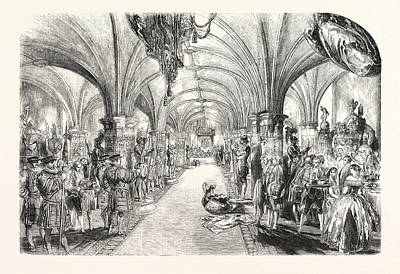 Banquet Drawing - The Banquet In The Crypt by English School