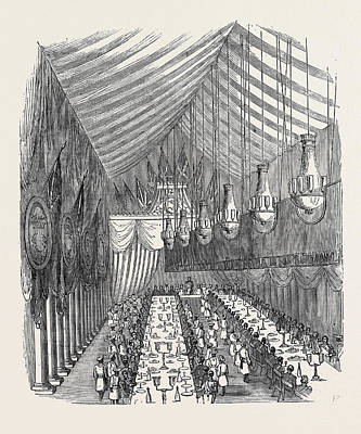 The Banquet In The Hall Art Print