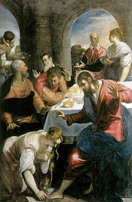 The Banquet In The House Of Simon Art Print by Tintoretto