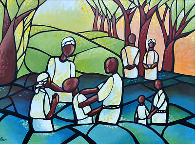 Painting - The Baptism by AC Williams