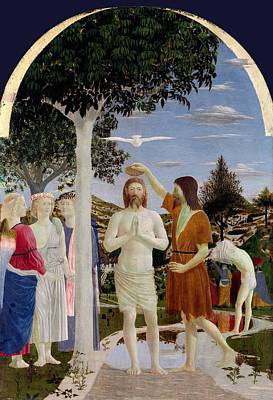 Baptism Painting - The Baptism Of Christ by Piero della Francesca