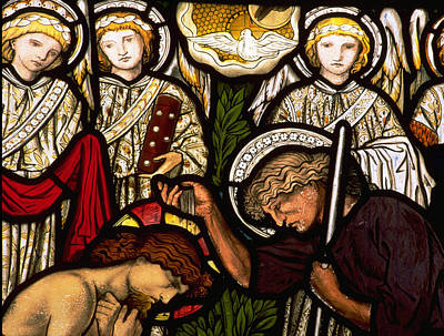 Stained Glass Photograph - The Baptism Of Jesus by Philip Ralley