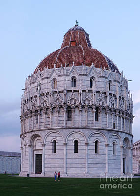 Photograph - The Baptistry - Pisa - Italy by Phil Banks
