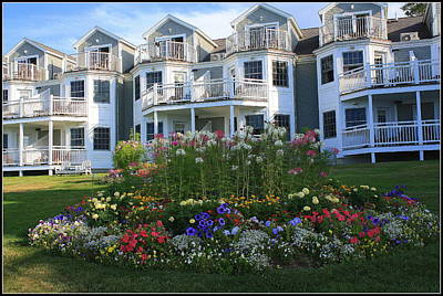 Maine Meadow Photograph - The Bar Harbor Inn - Maine by Dora Sofia Caputo Photographic Art and Design