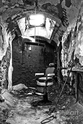 Eastern State Prison Wall Art - Photograph - The Barber Chair - Bw by Paul W Faust -  Impressions of Light