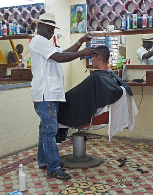 Photograph - The Barber Of Havana by Cheri Randolph