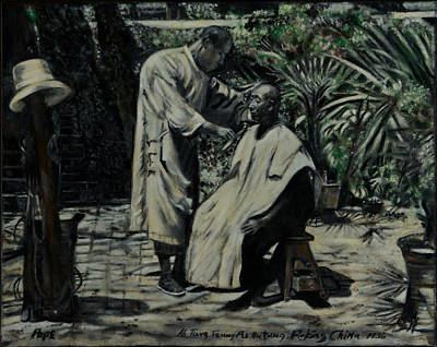 Painting - The Barber Of Peking by Bruce Ben Pope