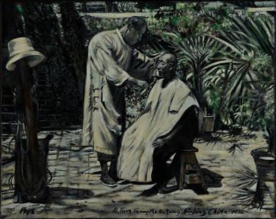 The Barber Of Peking Art Print