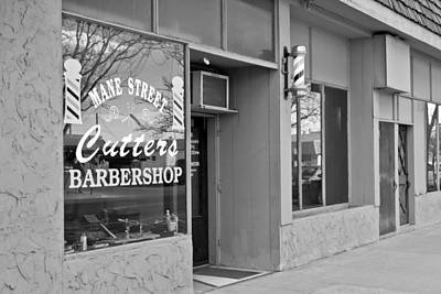 Photograph - The Barber Shop 3 Bw by Angelina Vick