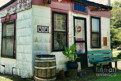 Rain Barrel Photograph - The Barber Shop From A Different Era by Paul Ward
