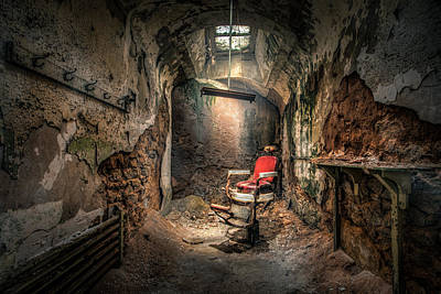 Chair Photograph - The Barber's Chair -the Demon Barber by Gary Heller