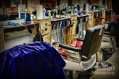Electric Razor Photograph - The Barbershop by Paul Ward