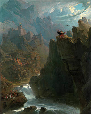Eagle Cliff Painting - The Bard, John Martin, 1789-1854 by Litz Collection