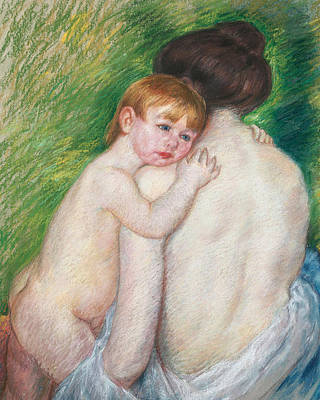 Painting - The Bare Back by Mary Cassatt Stevenson