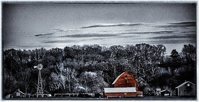 Photograph - The Barn And The Windmill by Kimberleigh Ladd