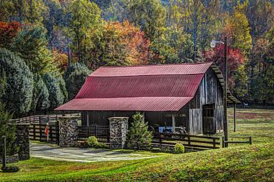 The Barn At Cherry Log Art Print