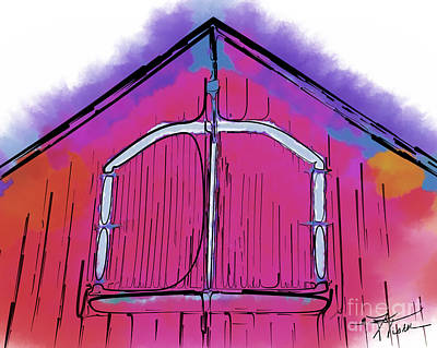 Digital Art - The Barn Door by Kirt Tisdale