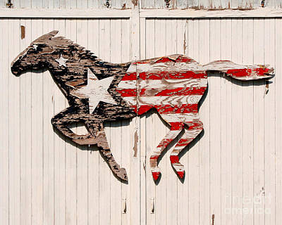 Patriotic Photograph - The Barn Horse by Jillian Audrey Photography