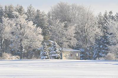 Photograph - The Barn In Winter by Lisa  DiFruscio