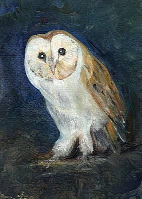 Painting - The Barn Owl by Carol Rowland