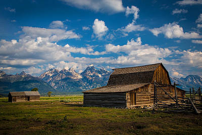 Teton Photograph - The Barn by Robert Bynum