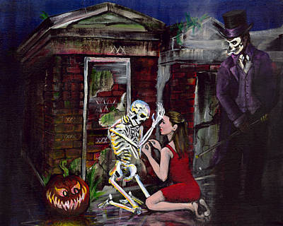 Spooky Scene Painting - The Baron by Gretchen  Smith