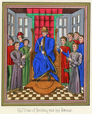 The Barons Of Bretagne Meet To Art Print by Mary Evans Picture Library