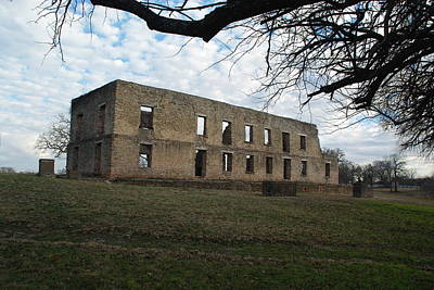 Photograph - The Barracks At Fort Washita by Robyn Stacey