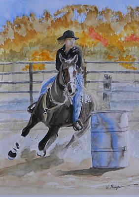 The Barrel Race Art Print by Warren Thompson