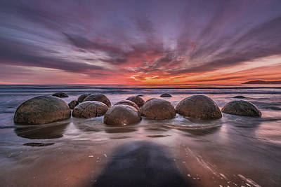 Ocean Sunset Wall Art - Photograph - The Barrier by Andreas Agazzi