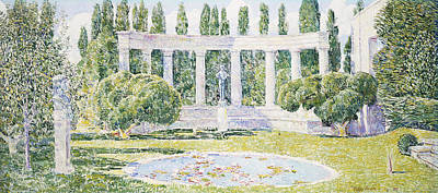 The Bartlett Gardens Art Print by Childe Hassam