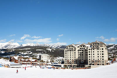 Chair Lift Photograph - The Base Area At Big Sky Resort by Craig Moore