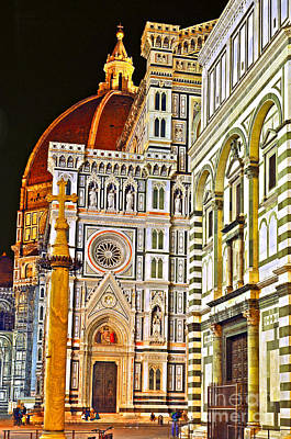 Photograph - 	Florence Cathedral Of Santa Maria Del Fiore by Lilianna Sokolowska