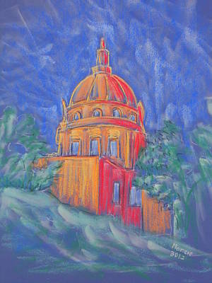 Pastel - The Basilica by Marcia Meade