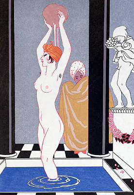 Basin Painting - The Basin by Georges Barbier