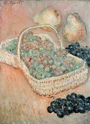 The Basket Of Grapes, 1884 Art Print by Claude Monet