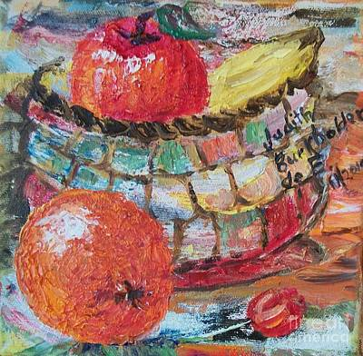 The Basket - Sold Art Print by Judith Espinoza