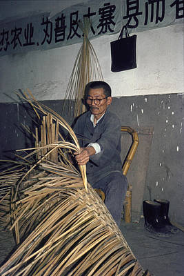 Photograph - The Basket Weaver by Cornelis Verwaal