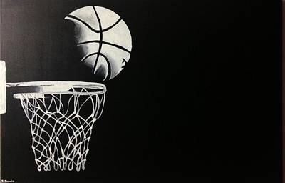 The Basketball Art Print by Sanjay Thamake