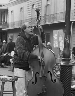 Street Muscians Wall Art - Photograph - The Bass Player  by Mel Felix