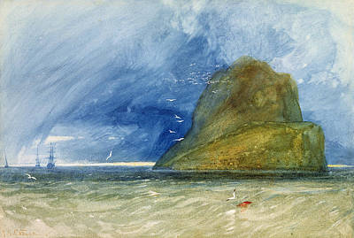 Seagull Drawing - The Bass Rock, Scotland, C.1833-35 by John Sell Cotman