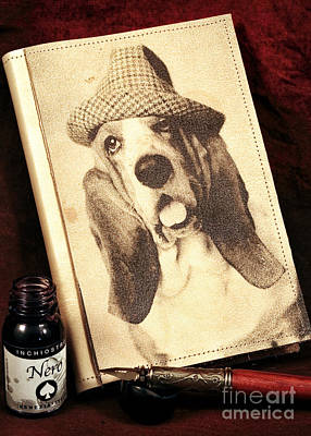 Dog Pics Photograph - The Basset Diaries by John Rizzuto