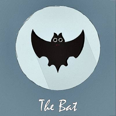 Bat Digital Art - The Bat Cute Portrait by Florian Rodarte