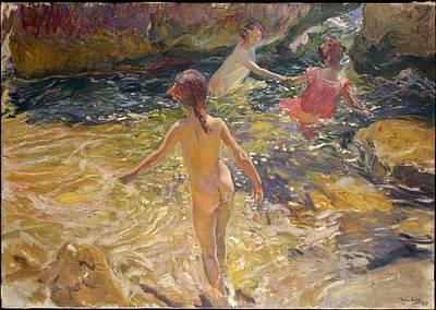 N.y Painting - The Bath, J�vea by Joaqu�n Sorolla y Bastida
