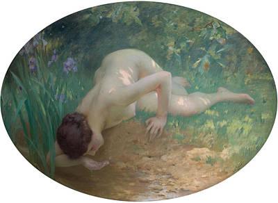Charles Digital Art - The Bather by Charles Lenoir