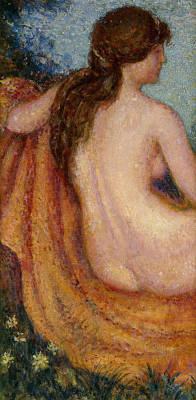 Erotica Painting - The Bather by Georges Lemmen